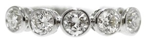 18K White Gold 1.0Ct Diamond Ring 3.3 Grams Size 5