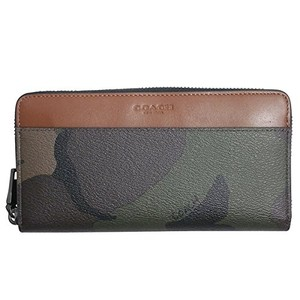 Coach Coach F75099 Accordion Zip Wallet in Camo Coated Canvas Green
