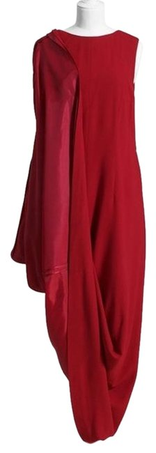 Item - Red Mid-length Cocktail Dress Size 6 (S)