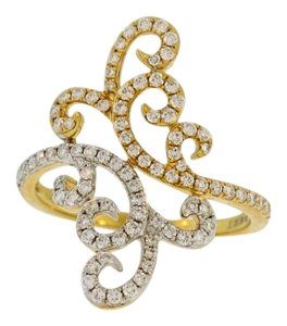 Other Swirling Diamond Cocktail Ring - 18k Diamond Gold Ring