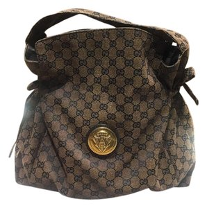 Gucci Vintage Canvas Gg Tote in Brown