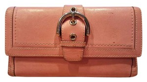 Coach COACH Pink Leather Wallet checkbook