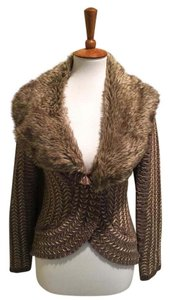 Anthropologie Faux Fur Sweater