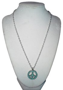 Handmade Handmade Light Blue Color Peace Sign Stainless Steel 18