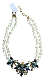J.Crew New JCrew Pearl W/Blue Multi Stones Necklace.