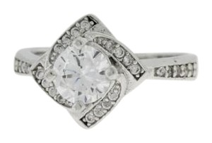 Other Halo Diamond CZ Engagement Ring - Sterling Silver Engagement Ring