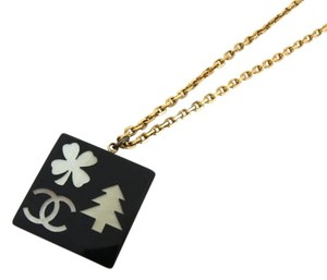 Chanel 03A CC Tree Clover Necklace ( w/ Box )211191