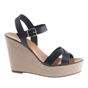 J.Crew Black Wedges