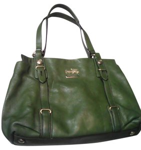 Coach Chic Leather Satchel in green