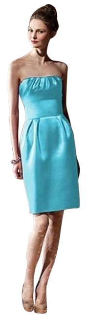 Dessy Turquoise 8104 Mid-length Night Out Dress Size 2 (XS) Dessy Turquoise 8104 Mid-length Night Out Dress Size 2 (XS) Image 1