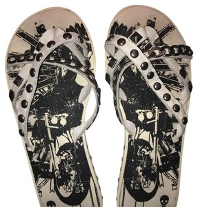 Rock Candy Black White Sandals