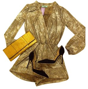 Karlie Romper Metallic Holiday Dress