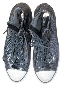 John Varvatos Snake Mens Converse Silver Athletic