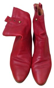 Frye Wedge Ankle Boot red Boots