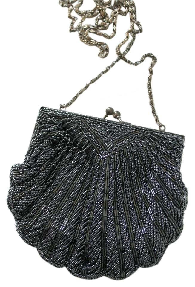 0933683b8 Handmade Vintage Purse Gun Metal Grey Beaded Shoulder Bag - Tradesy