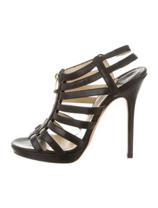 Jimmy Choo Glennys Caged Black Sandals