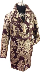 Sharif Couture Embroidered Textured Damask Coat