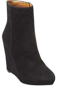 Nine West Suede Wedge Platform Black Boots