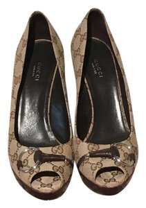 Gucci Brown and beige Formal