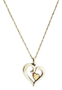 James Avery JAMES AVERY Joy Of My Heart 14K 925 Sterling Silver Pendant Necklace