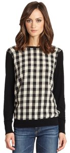 Equipment Plaid Silk Sweater
