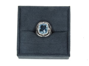 David Yurman David Yurman Blue Topaz Chain Ring