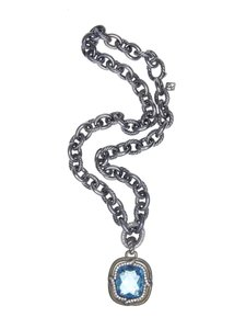 David Yurman David Yurman Blue Topaz Chain Necklace