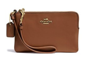 Coach Wristlet in saddle brown