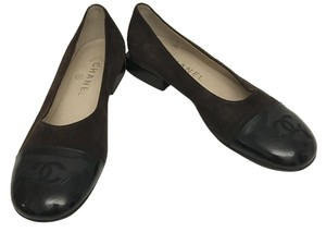 Chanel Logo Classic Brown Flats