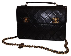 Chanel Vintage Mini 18k Gold Lambskin Cross Body Bag