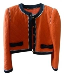 Escada Vintage Braided Gold Buttons Sillk Red Jacket