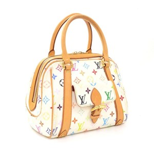 Louis Vuitton Lv Priscilla Monogram White Canvas Satchel