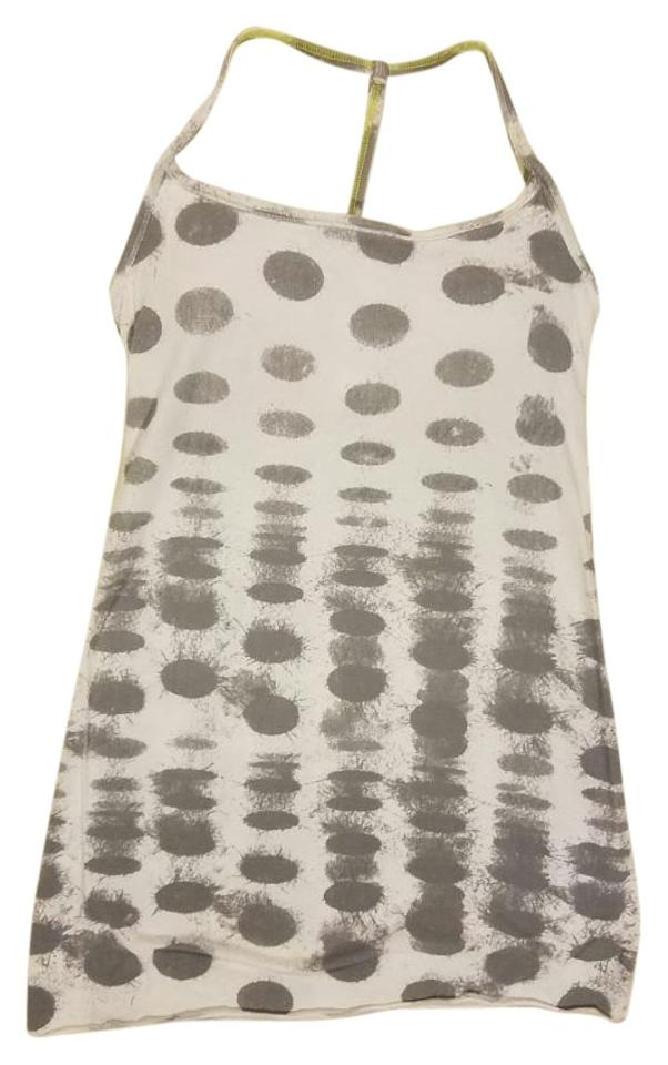 17ed6ae4078ee8 Lululemon Grey White Diversity Seaside Dot Racer Back Activewear Top. Size   6 ...