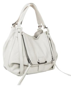 Kooba Leather Gun Metal Eclectic Hobo Bag