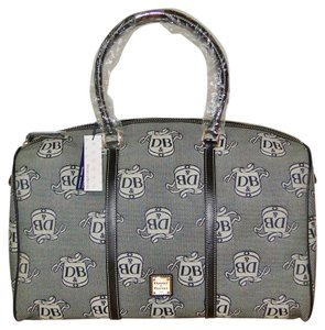 Dooney & Bourke Travel Weekender Jacquard Signature Domed Black Travel Bag