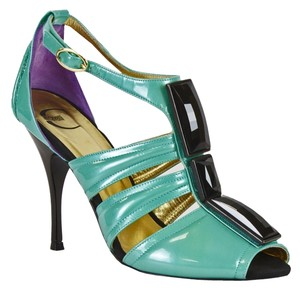 Just Cavalli Turgoise, Black, Purple Sandals