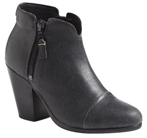 Rag & Bone Waxed Suede Ankle Black Boots