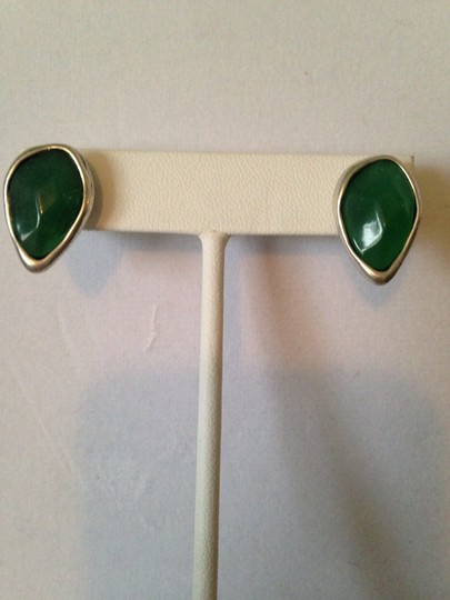 Robert Lee Morris Soho Silver-Tone Green Bead Stud Earrings