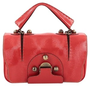 Fendi Leather Satchel in Red