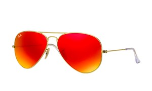 Ray-Ban Ray-Ban Aviator Flash Lenses Gold frame with red mirror lenses NWOT