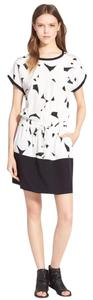 Vince short dress Geometric Print Contrast Silk Drawstring on Tradesy