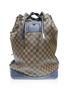 Louis Vuitton Brown/blue Travel Bag