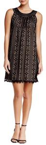 Max Studio short dress Black/nude Max Mara Sportmax Knee Length Work on Tradesy