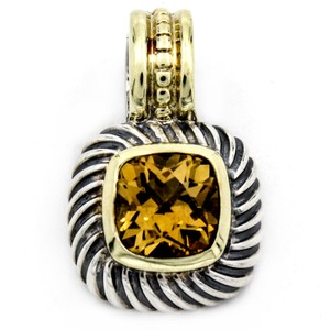 David Yurman David Yurman Cable Classics Citrine Pendant Enhancer with Gold