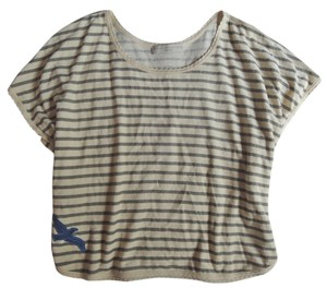 Stella McCartney Striped Terry Cloth T Shirt IVORY