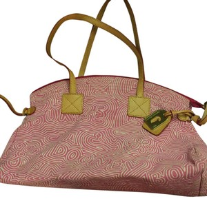Dooney & Bourke Satchel in Pink And White