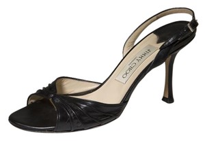 Jimmy Choo 7.5 Kitten Black Sandals