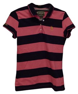 U.S. Polo Assn. T Shirt Pink and navy