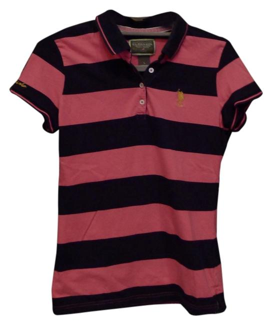 Preload https://item1.tradesy.com/images/us-polo-assn-pink-and-navy-kids-stripe-tee-shirt-size-4-s-2025385-0-0.jpg?width=400&height=650
