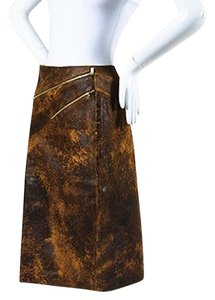 Michael Kors Distressed Skirt Brown